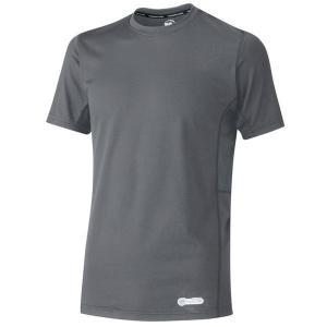 クールインナー ベルデクセル 男女共用 半袖クールコアTシャツ VEC11上 グレー COOL CORE 熱中対策 ミドリ安全 現場|verdexcel-medical