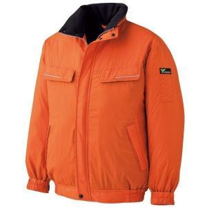 ベルデクセル 防寒ブルゾン VE1024上 オレンジ 作業服 作業着 現場 秋冬 ミドリ安全 ポリ100 中綿 軽量 動きやすい|verdexcel-medical