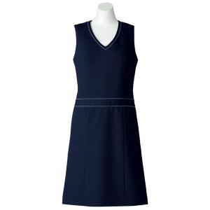 SOLOTEX(R) CREARTA(R) ジャンパースカート AO5800-8 ネイビー オフィスウェア BONMAX ボンマックス 春夏|verdexcel-medical