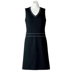 SOLOTEX(R) CREARTA(R) ジャンパースカート AO5800-16 ブラック オフィスウェア BONMAX ボンマックス 春夏|verdexcel-medical