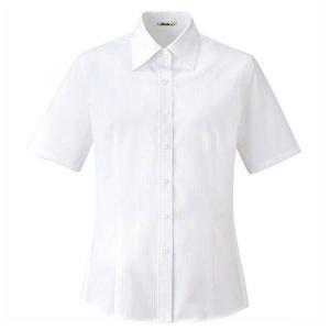半袖ブラウス RB4537-15 ホワイト レディース BONMAX ボンマックス オフィスウェア 事務服 会社 企業制服 通勤服|verdexcel-medical