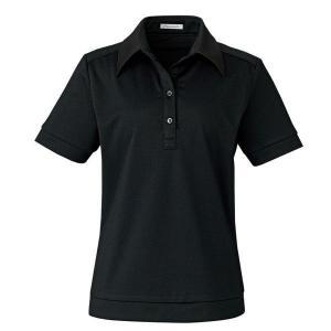 ポロニット KK7807-16 ブラック 半袖 レディス BONMAX ボンマックス オフィスウェア 事務服|verdexcel-medical
