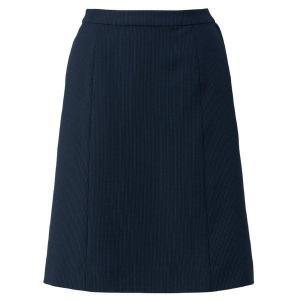 Le'ger Aラインスカート LS2753-28 ネイビー×ブルー 春夏 BONMAX ボンマックス オフィスウェア 事務服 企業 通勤 verdexcel-medical