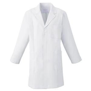 メンズ 薬局衣(ハーフコート) 1520-1 ホワイト 白衣 医療 衛生 作業着・服|verdexcel-medical