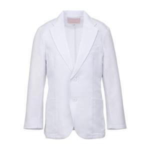 メンズ ドクタージャケット(シングル) 1011TW-1 ホワイト 白衣 医療 衛生 作業着・服|verdexcel-medical