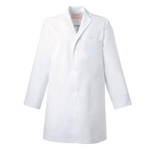 メンズ 診察衣(シングル) 1523ES-1 ホワイト 白衣 医療 衛生 作業着・服|verdexcel-medical