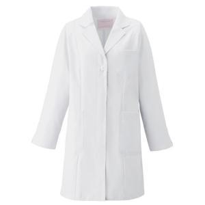 FOLK レディース 薬局衣 (ハーフコート) 2520-1 ホワイト 長袖 フォーク 白衣 医療 衛生 作業着・服 レディース メディカルウェア|verdexcel-medical