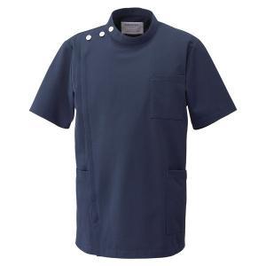 メディカルウェア ケーシー 半袖 男子上衣 1010CR-7 ネイビー 白衣 メンズ フォーク FOLK 医療 衛生 作業着・服|verdexcel-medical