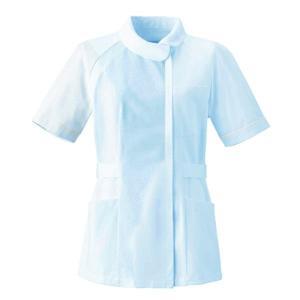 ナースウェア チュニック 2680-1 サックス 白衣 医療 衛生 作業着・服|verdexcel-medical