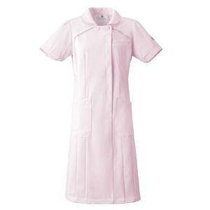ナースウェア ワンピース HI107-3 ピンク 白衣 医療 衛生 作業着・服|verdexcel-medical