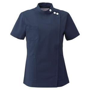 メディカルウェア ケーシー 半袖 女子上衣 2010CR-7 ネイビー フォーク FOLK 白衣 レディース 医療 衛生 作業着・服|verdexcel-medical