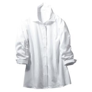 シャツブラウス (七分袖) ESB-593 11 ホワイト カーシーカシマ KARSEE オフィスウェア 事務服|verdexcel-medical