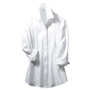 シャツブラウス (七分袖) ESB-597 11 ホワイト カーシーカシマ KARSEE オフィスウェア 事務服|verdexcel-medical