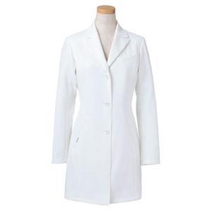 長袖ドクタージャケット R2440-21 レディース ホワイト (S〜4L) 白衣 医療 衛生 メディカルウェア|verdexcel-medical