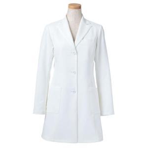 長袖ドクタージャケット R2441-21 レディース ホワイト (S〜4L) 白衣 医療 衛生 メディカルウェア|verdexcel-medical