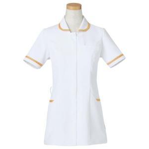 半袖ナースジャケット R8640-17 ライトブラウン (S〜4L) 白衣 医療 衛生 メディカルウェア|verdexcel-medical