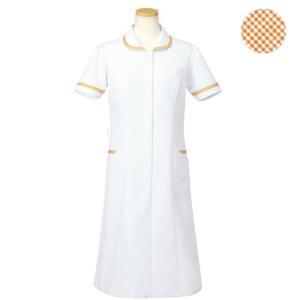メディカルウェア 半袖ナースワンピース レディース ライトブラウン (S〜4L) R4745-17 白衣 医療 衛生 作業着 服|verdexcel-medical