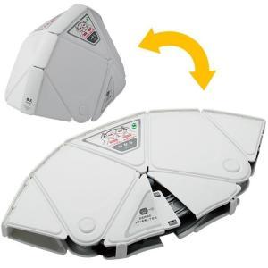 折りたたみ防災ヘルメット ミドリ安全 Flatmet フラットメット TSC-10 ホワイト セーフティ用品 防災グッズ 折り畳み 最薄3.3cm|verdexcel-medical