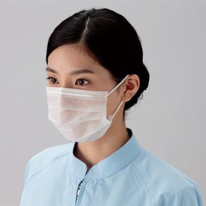 ミドリクリーンマスク 2枚重ね K-200R 耳掛け 3000枚 ウイルス対策 花粉対策 予防|verdexcel-medical
