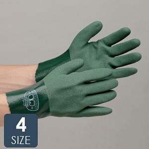 東和コーポレーション ニトリルゴム手袋 NO.565 耐油トワロンハード S〜LL 10双 業務用 グリーン|verdexcel-medical