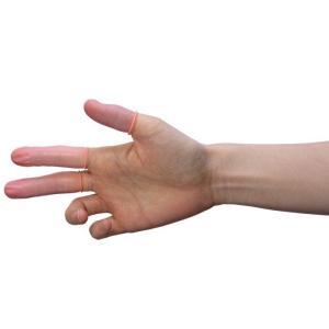 指サック 鈴木ラテックス AS-3N-M18 ピンク 1000個/袋 非帯電 ノンパウダー 天然ゴム ロールタイプ|verdexcel-medical