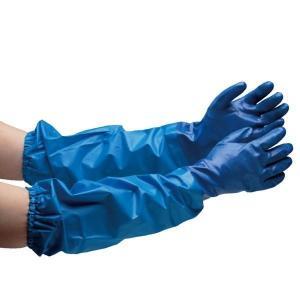 エステー ニトリル製ゴム手袋 腕カバー付 NO.660 M〜LL 業務用 耐油 厚手タイプ 5双 業務用|verdexcel-medical