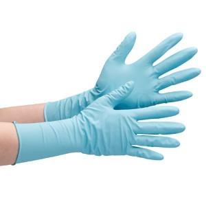 ミドリ安全 ニトリル製ディスポ手袋 ベルテ766H ブルー S〜LL 厚手タイプ パウダーフリー 粉なし 50枚 使い捨て手袋 ロングタイプ|verdexcel-medical