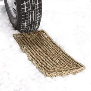 【素材・材質】水草 【サイズ】W220×L590mm 【特徴】 ■スリップした時にタイヤと雪面の間に...
