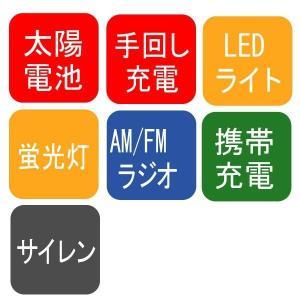 手回し充電ラジオ スターリングターボ 携帯ラジオ LEDライト 非常用 防災グッズ 災害用品 避難生活|verdexcel-medical|02