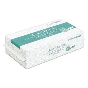 エルヴェール ペーパータオル エコドライ 中判 200枚×30袋 業務用|verdexcel-medical