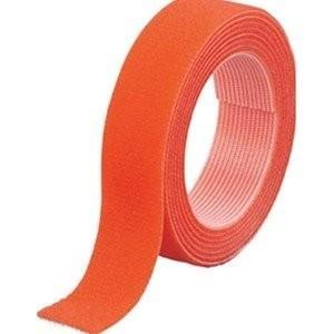 TRUSCO トラスコ中山 マジックバンド結束テープ 両面 オレンジ 20mm×1.5m MKT20...
