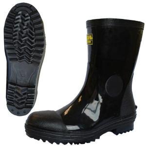 ミドリ安全 先芯入セーフティブーツ デサフィオ MPB-100 ブラック 安全靴 長靴 ショート 作業用 現場 シンプル ゴム長|verdexcel-medical