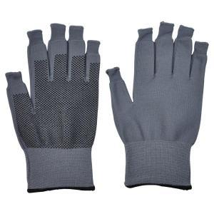 送料無料 ミドリ安全 スライドタッチ手袋 グレー Lサイズ 指先が使える! スマホ手袋 防寒 現場 釣り|verdexcel-medical