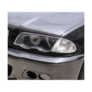 98-01y BMW 3シリーズ E46 前期 4ドア クローム ヘッドライトリム|verger-autoparts