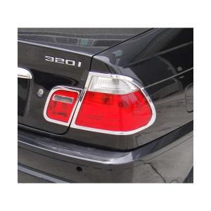 98-01y BMW 3シリーズ E46 前期 4ドア クローム テールライトリム|verger-autoparts