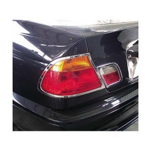 99y-03y BMW 3シリーズ E46 2ドア 前期 クローム テールライトリム|verger-autoparts