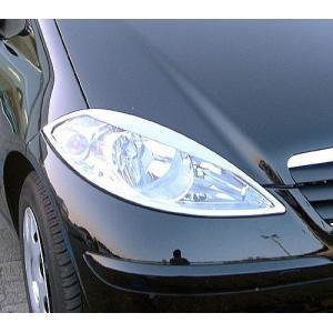 クローム ヘッドライトリム 04-08y BENZ/ベンツ Aクラス W169|verger-autoparts