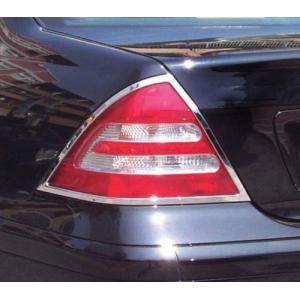 クローム テールライトリム 00-06y BENZ/ベンツ Cクラス W203|verger-autoparts