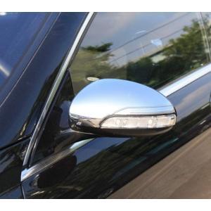 クローム ドアミラーカバー 06y‐09y ベンツ CLクラス W216 前期|verger-autoparts