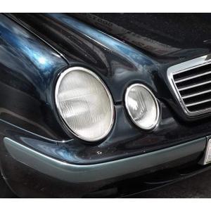 クローム ヘッドライトリム 97-02y BENZ/ベンツ CLKクラス W208|verger-autoparts