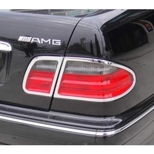 クローム テールライトリム 95-02y BENZ/ベンツ Eクラス W210|verger-autoparts