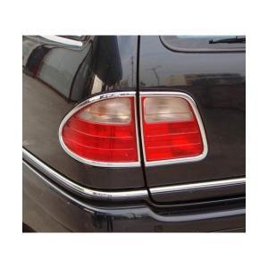 クローム テールライトリム 96-03y ベンツ Eクラス W210 ワゴン|verger-autoparts