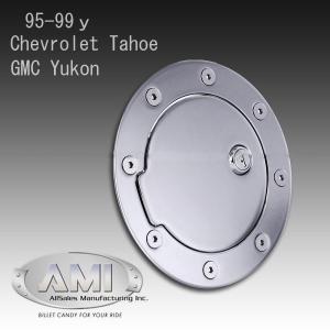 AMI キー付 ビレット 燃料タンクカバー フューエルドア 99-00y キャデラック エスカレード GMC ユーコンデナリ|verger-autoparts