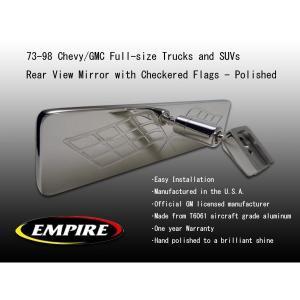 EMPIRE ビレットバックミラー Flags 73-98y シボレー GMC 汎用|verger-autoparts