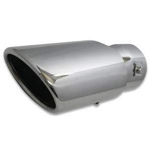 汎用 マフラーカッター 104×74mm 適合径45〜62mm ステンレス オーバルスラッシュタイプ 角度調節OK|verger-autoparts