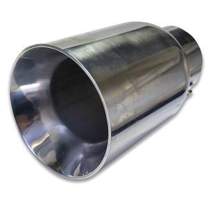 汎用 マフラーカッター 90mm 適合径40〜57mm ステンレス 大口径タイプ|verger-autoparts