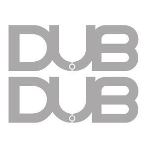DUBステッカー シルバー 2枚セット  サイズ : 46mm×128mm  本国DUBより取り寄せ...