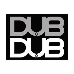 DUBステッカー 白、シルバー 2枚セット  サイズ : 46mm×128mm  本国DUBより取り...