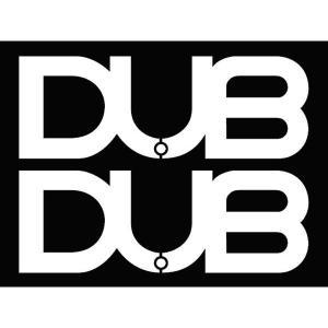 DUBステッカー 白 2枚セット  サイズ : 46mm×128mm  本国DUBより取り寄せた商品...