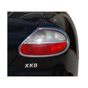 96-06y ジャガー XK8 クローム クリスタル テールライトリム|verger-autoparts